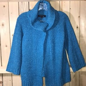 Evan-Picone sweater teal petite small PM wool